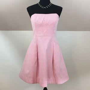 Lilly Pulitzer Pink Strapless Seersucker Dress